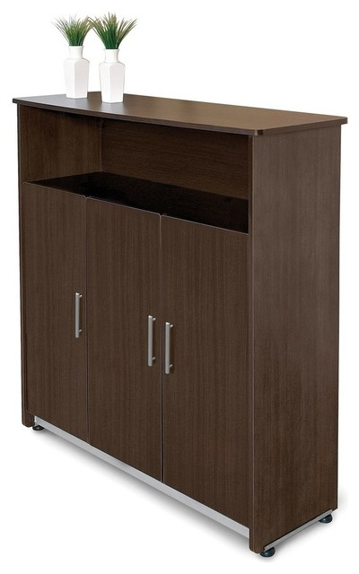 OFM Venice Series Executive Storage Cabinet, Cherry - Filing Cabinets ...