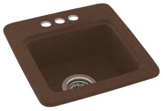 Swan 15x15x6 Solid Surface Drop Bar Sink, 3-Holes, Acorn.