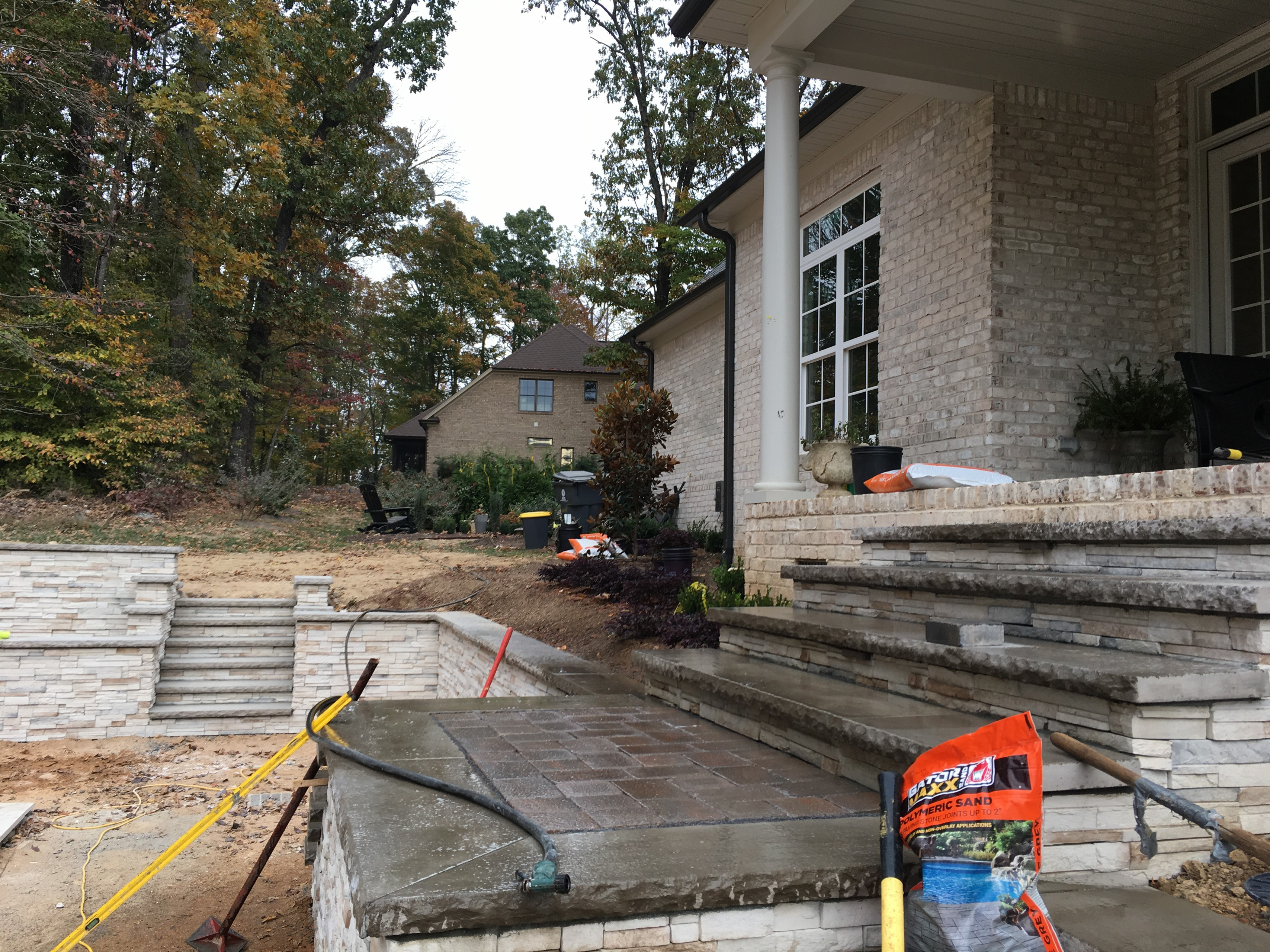 BEFORE PHOTOS: Pool with firepit, english garden, large patio areas