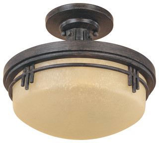 Designers Fountain Mission Ridge Ceiling Mount Fixture - Craftsman - Flush-mount Ceiling ...