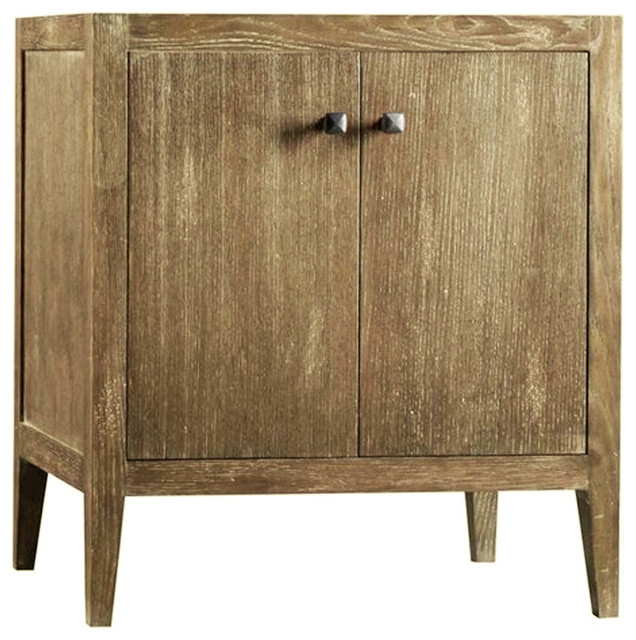 Glenn Single Bathroom Vanity Base Cabinet Only, Weathered Natural, 30""