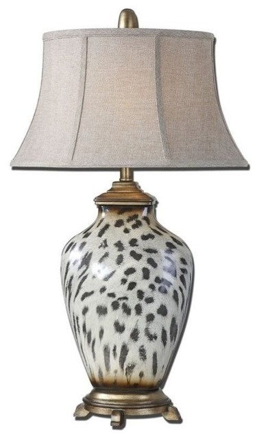 Uttermost Malawi Cheetah Print Table Lamp - Traditional - Table ...
