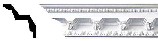 Egg And Dart With Acanthus Corbel Crown Molding.