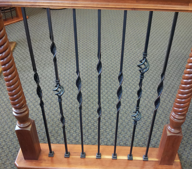 Ribbon Twisted Iron Balusters Traditional Houston By