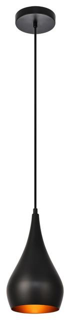 "Nora Collection Pendant 6""x11.5"" 1-Light Black"