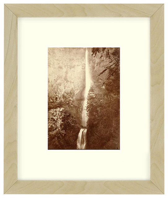 """Multnomah Falls"" Oregon Sepia Tone Framed Photo, 20""X26"""