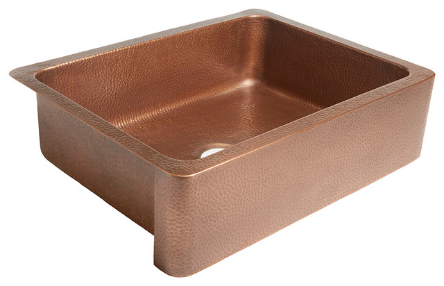 "Courbet 30"" Farmhouse Copper Kitchen Sink, Antique Copper"