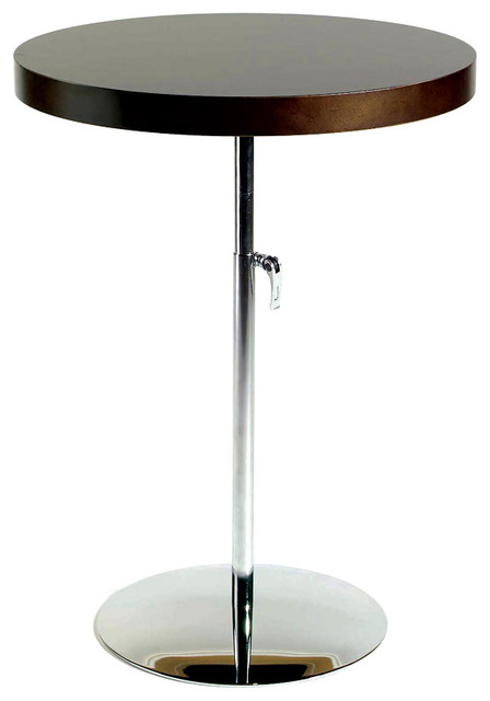 Gentil Raymond Adjustable Height Round Table W Steel Pedestal Base
