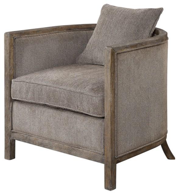 Uttermost Viaggio Gray Chenille Accent Chair by Uttermost