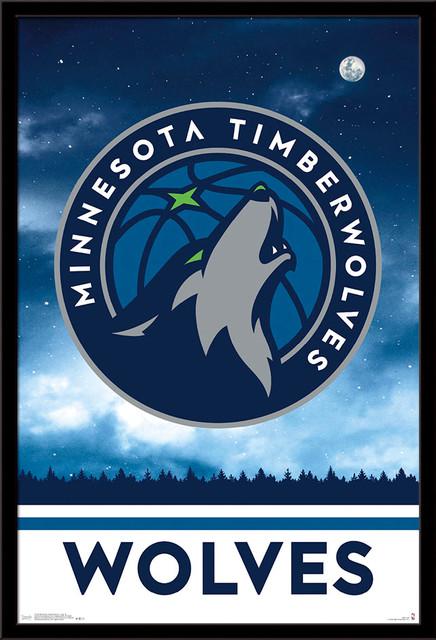 Minnesota Timberwolves Logo Poster Contemporary Prints And