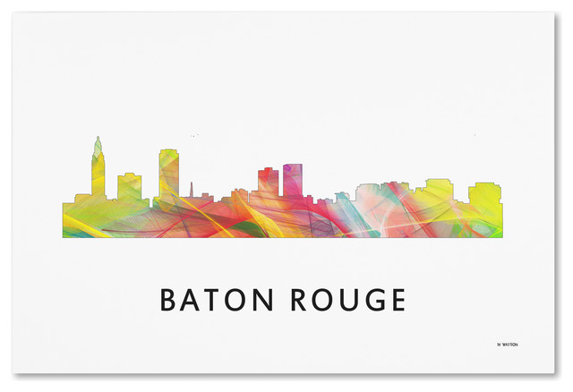 39 baton rouge louisiana skyline wb 1 39 canvas art