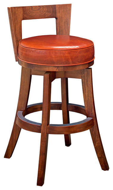 California House Denton Low Back Swivel Stool Bar Stools