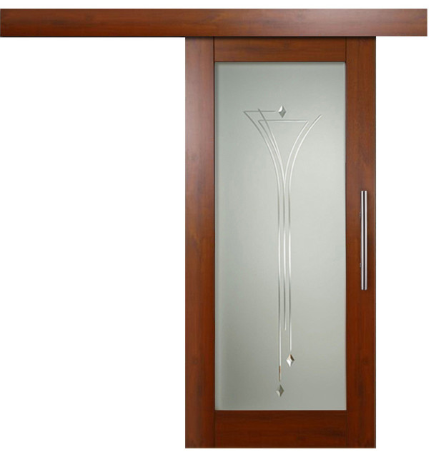 Sensational Colombian Solid Mahogany Wood Sliding Barn Door And Frosted And Lines Design 26 Creativecarmelina Interior Chair Design Creativecarmelinacom