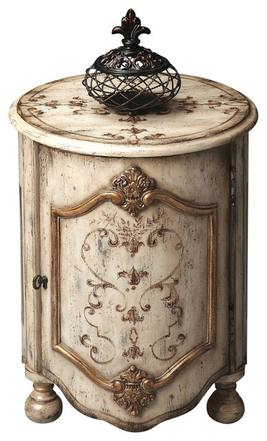 Butler Kenwood Gilted Cream Drum Table.