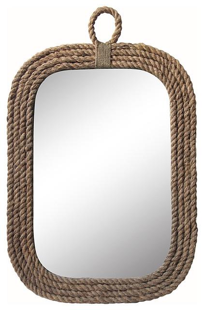 Nautical Wall Mirror nautical rope wall mirror - beach style - wall mirrors -cheungs