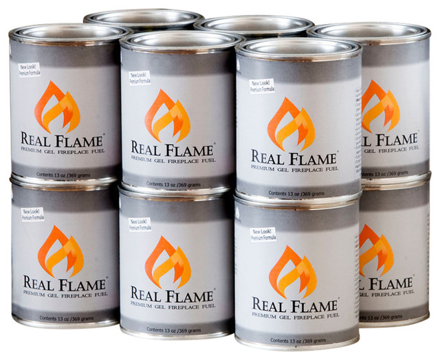 Real Flame 12 Pack Premium Gel Fuel Traditional Fire