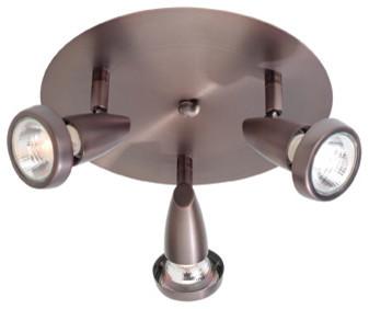 bronze mirage 3 light flush mount ceiling spot light with swivel base transitional spot ceiling mounted spot lighting
