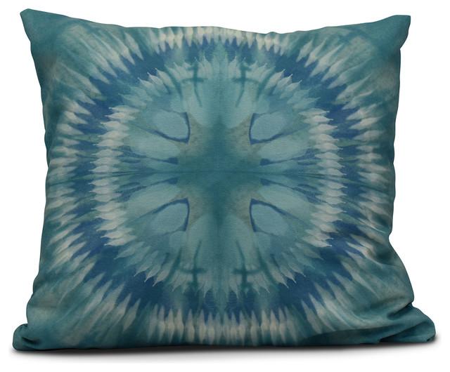 Shibori Burst Geometric Print Pillow Contemporary