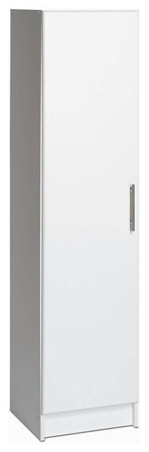 Elite 16 Quot Broom Cabinet White Contemporary Storage