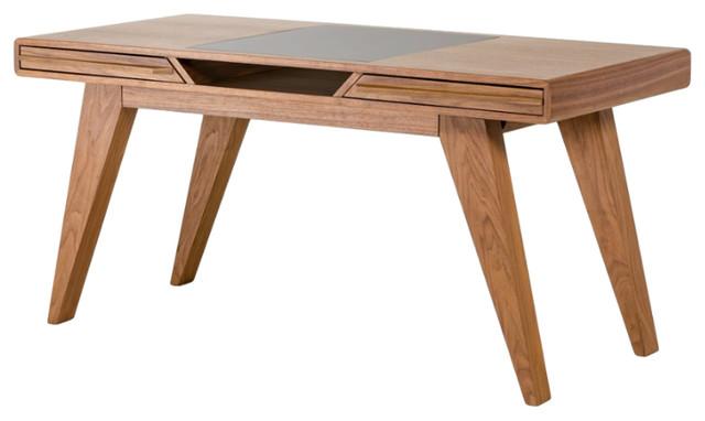 Nova Domus Soria Modern Walnut Desk.