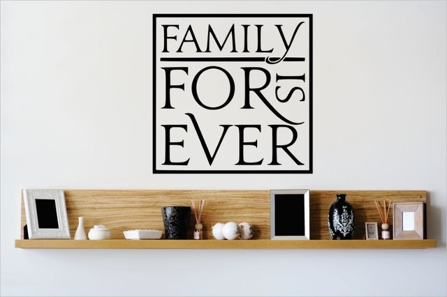 Wall Decor 20x20 : Decal vinyl wall sticker family is forever quote