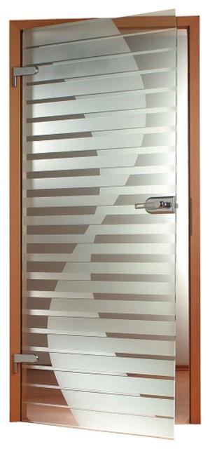 """Interior Glass Door With Door Hinge And Handles Lock Set, 36""""x80"""", Right."""