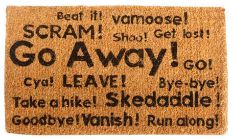 Go Away  Synonyms Doormat.    sc 1 st  Houzz : door thesaurus - Pezcame.Com