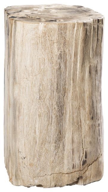 Marvelous Gramercy Petrified Wood Stool/Side Table Side Tables And End Tables