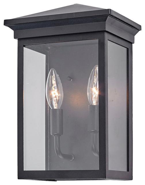 Gable 2 Light Outdoor Black