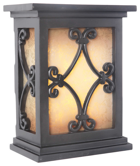 Craftmade Hand-Carved Scroll Lighted LED Chime, Black
