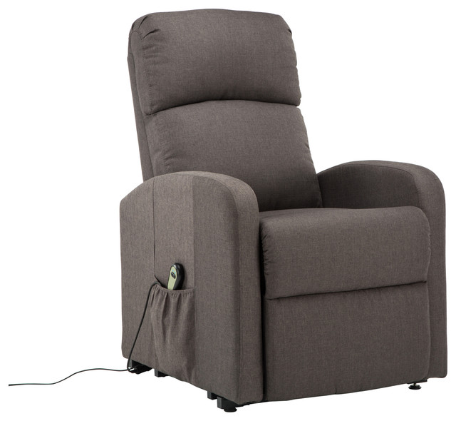 plush power lift recliner chair gray contemporary recliner