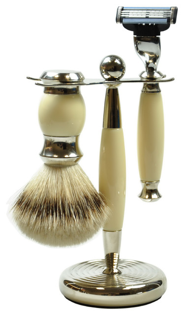pfeilring classic shaving set with safety razor beige victorian bathroom accessories