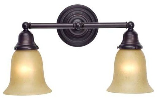 Vanity Lights Kit : Craftsman Style 2-Light Bathroom Light Bronze, 672-30/G9999 KIT - Traditional - Bathroom Vanity ...