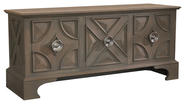 Westmoreland Cabinet, Light Gray Stain With Matte Lacquer