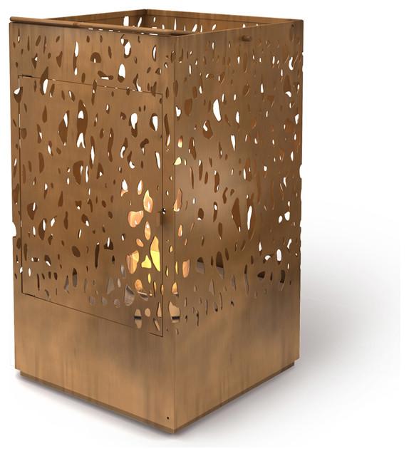 Lantern Outdoor Fireplace Floor Model (LA Area) Modern Tabletop Fireplaces