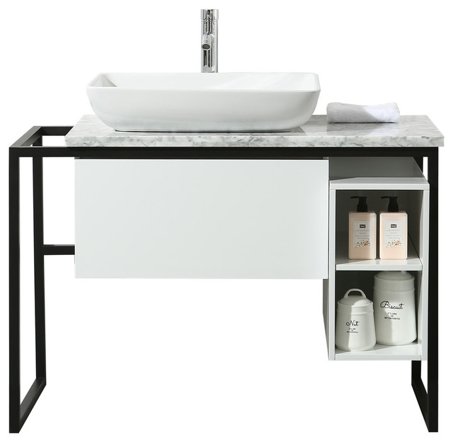Stufurhome Icelander 43 Single Sink Bathroom Vanity Industrial Bathroom Vanities And Sink Consoles By Hedgeapple Houzz