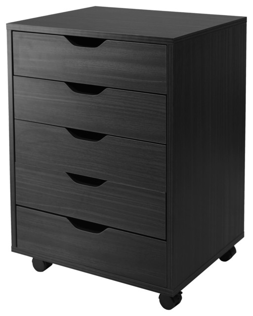Halifax 5-Drawer Cabinet, White - Contemporary - Filing Cabinets - by ...