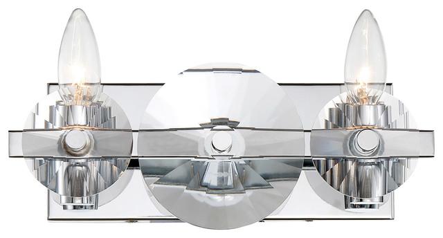 Engeared 2-Light Bath Fixture, Chrome