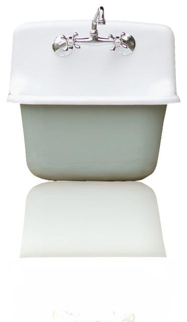 Deep Porcelain Sink : Houzz Gerber Refinished Deep Basin Porcelain Farm Basin Utility Sink ...