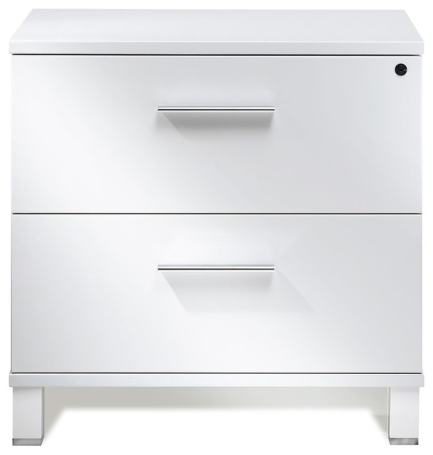500 Collection White Lateral File Cabinet Contemporary Filing Cabinets By Unique Furniture