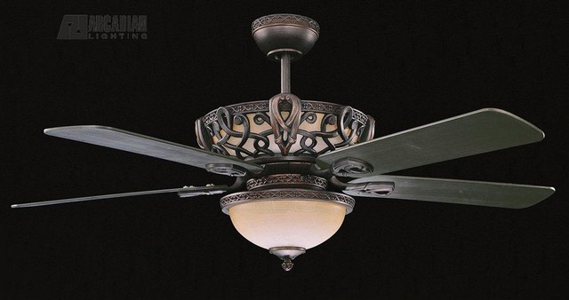 "Concord Fans Aracruz Ceiling Fan, Oil Rubbed Bronze, 52""."