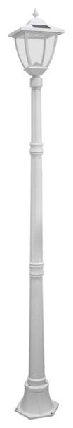 Solar Lamp Post, Cast Aluminum, White