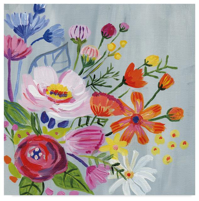 Global Gallery Farida Zaman Floral Medley I Giclee Stretched Canvas Artwork 24 x 24