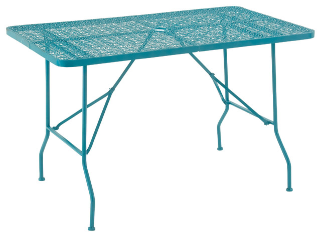 Benzara Uniquely Styled Metal Folding Outdoor Table