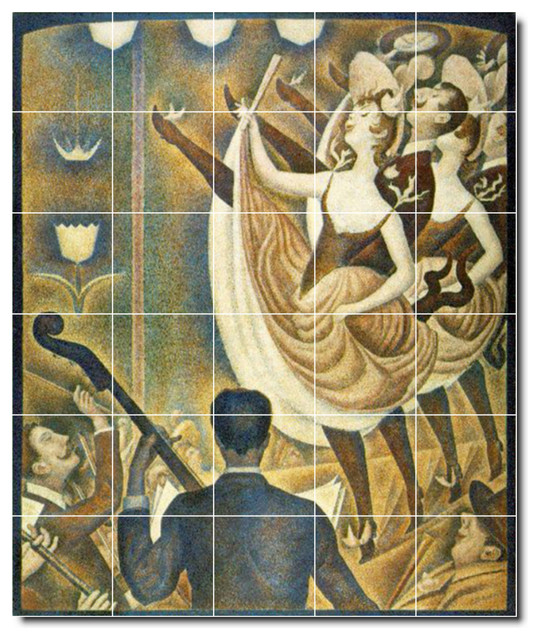 Georges seurat poster art painting ceramic tile mural 39 for Ceramic mural art