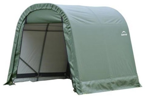 10x12x8 Round Style Shelter With Green Cover.