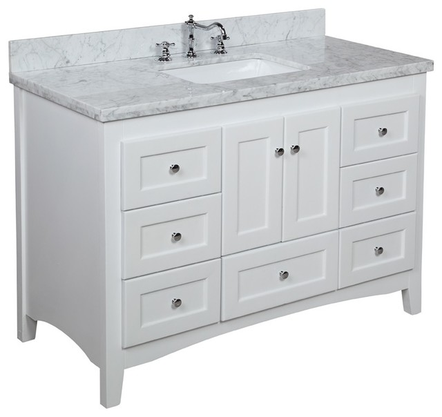 Kitchen Bath Collection   Abbey Bath Vanity  Base  White  48   Top. Next Day Delivery Bathroom Vanities   Houzz