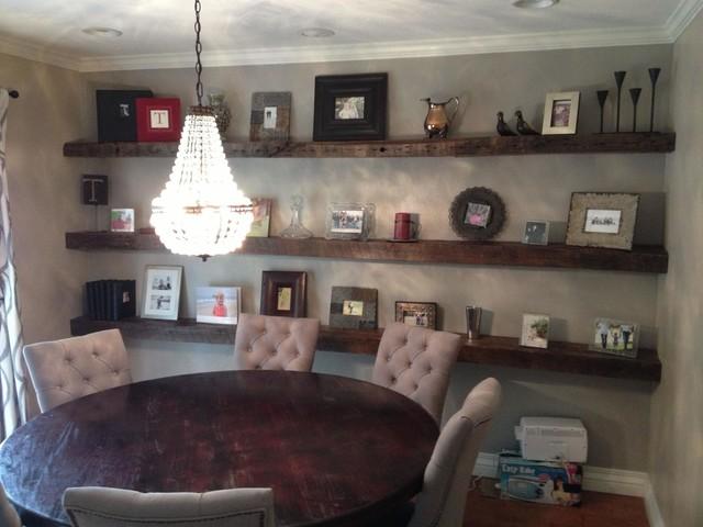 Shelves Reclaimed Hand Hewn White Oak Floating