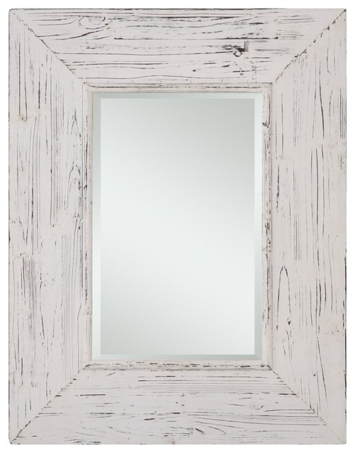 white distressed mirror wilkes distressed white rectangular mirror rustic bathroom 1024