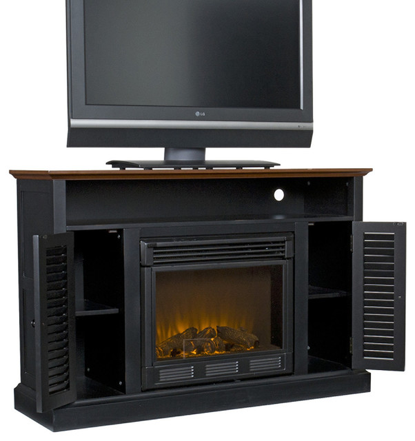 "The Crestwood 48"" Shelf/mantel Shelf Mdf In Black Paint"